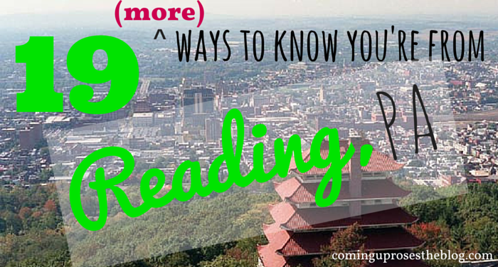 how to know you're from Reading, PA!