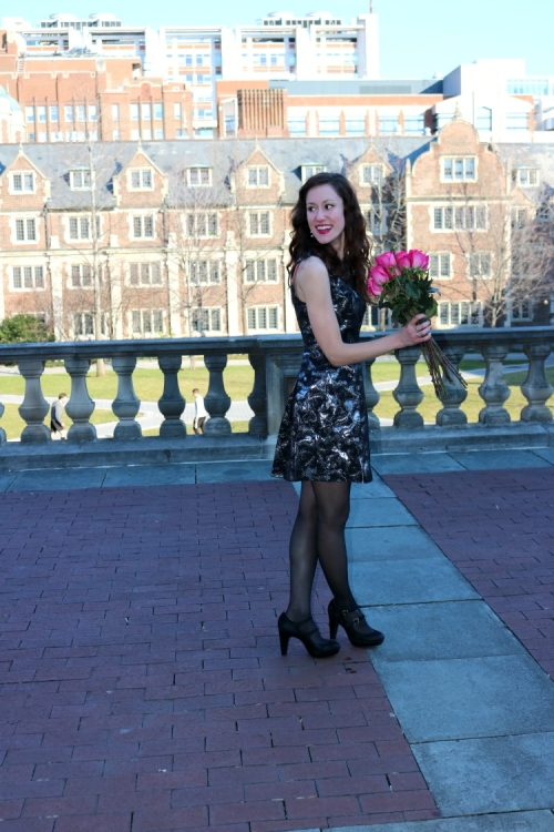 14 steps to a more Confident You - on Coming Up Roses (+ this black and grey metallic dress for under $25!)