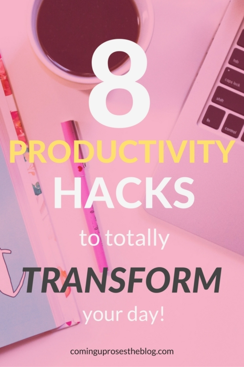 8 productivity hacks to totally transform your day featured by popular Philadelphia lifestyle blogger, Coming Up Roses