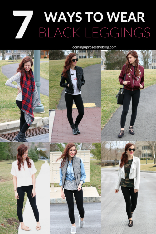 What to Wear with Leggings: How to Style Black Leggings 7 Ways, for wear all week long! on Coming Up Roses - What to Wear with Leggings by popular Philadelphia fashion blogger Coming Up Rose