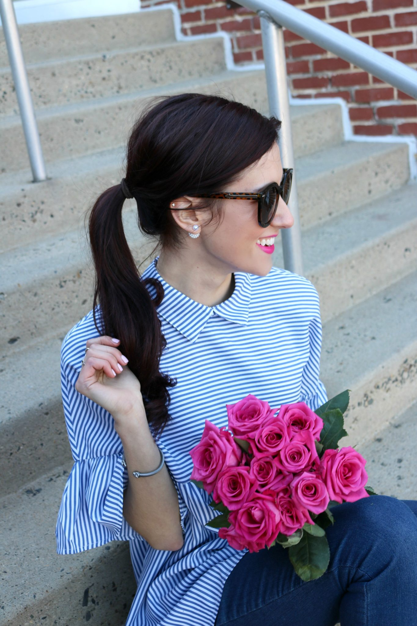 $13 striped peplum top - #AskE Q&A