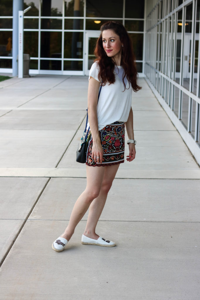 Embroidered Skirt styled 3 Ways for Fall Fashion