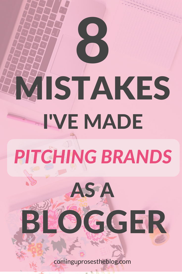 8 Mistakes I've Made Pitching Brands as a Blogger by popular Philadelphia style blogger Coming Up Roses
