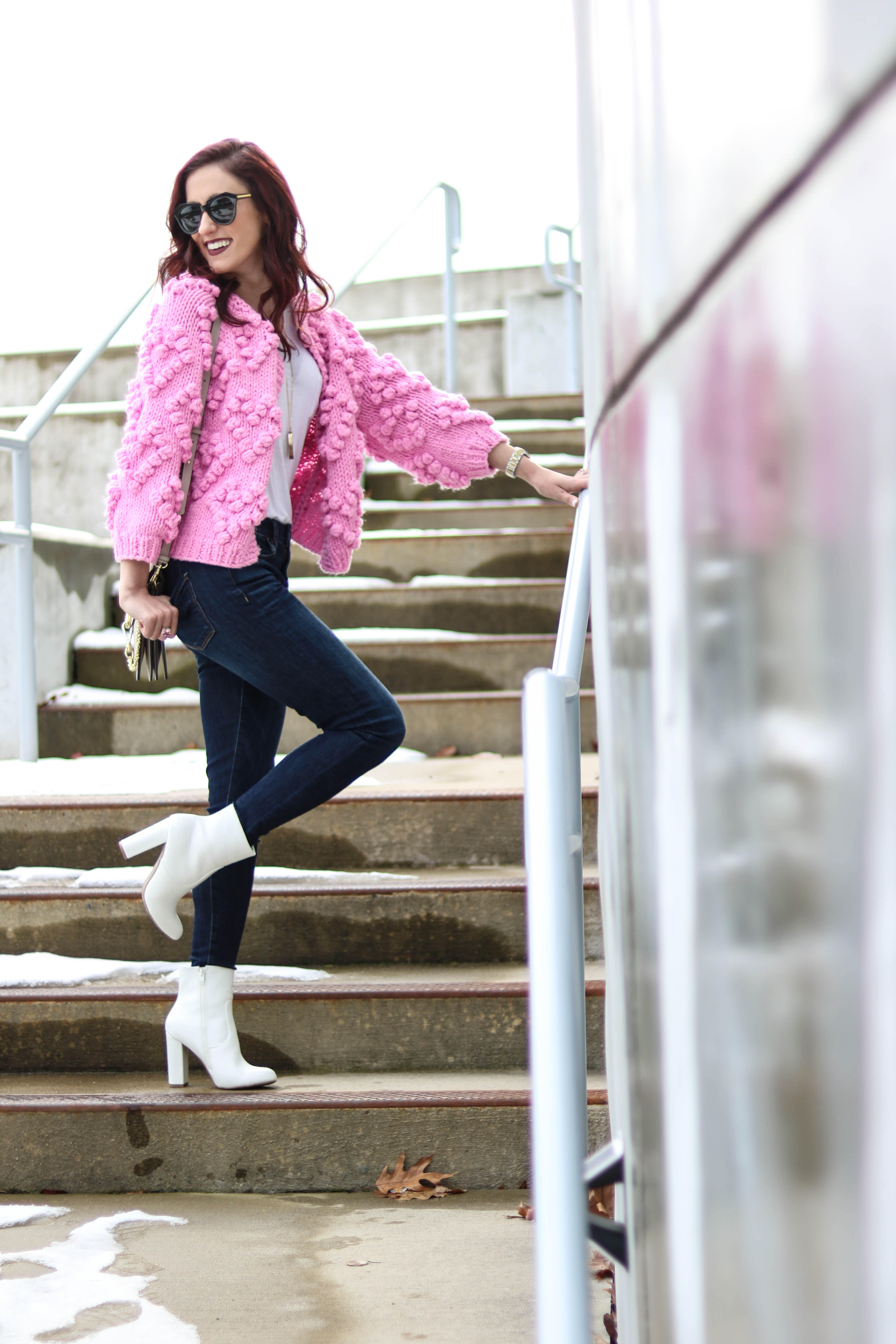Winter POWER OUTFIT + Q1 Playlist! - Cute winter outfit on Coming Up Roses