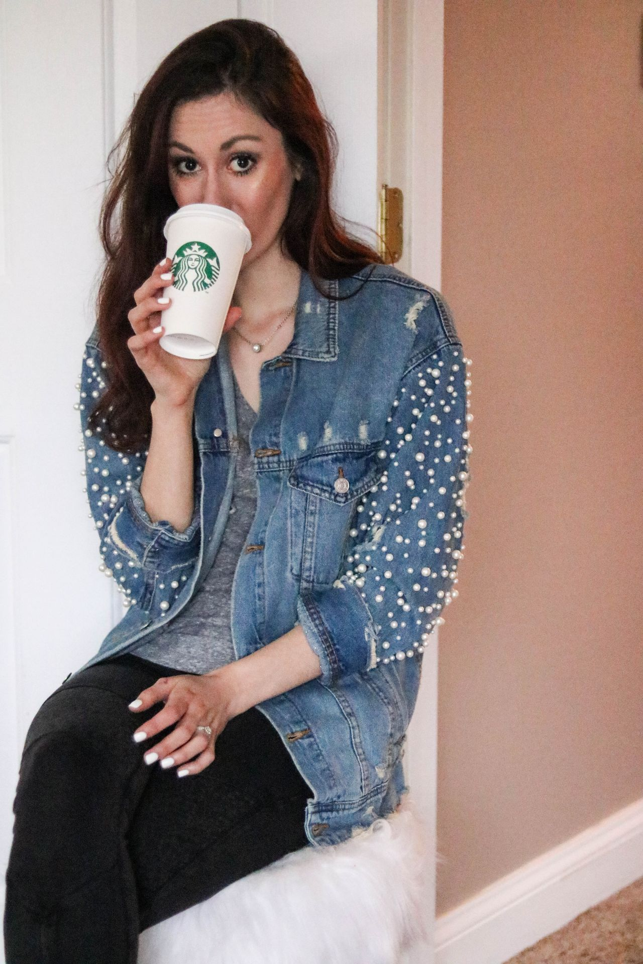 Things I Love - February 2018, Pearl Jean Jacket, Starbucks Medicine Ball, Lancome Highlighter + MORE