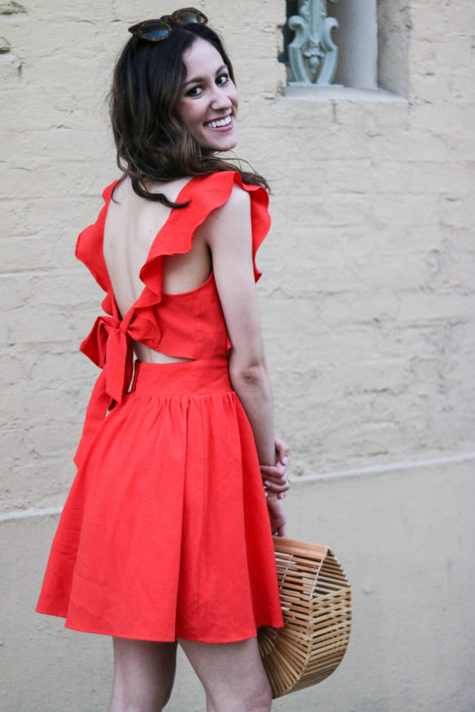 Sugarlips dress, Cult gaia bag dupe - Where to get cute dresses featured by popular Philadelphia fashion blogger, Coming Up Roses