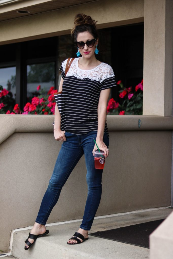 A list of the BEST JEANS under $100 from Philadelphia style blogger, Erica from Coming Up Roses! SAVE THIS POST!
