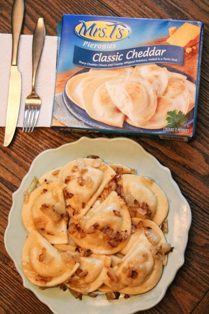 Philadelphia lifestyle blogger, Erica from Coming Up Roses, shares 5 Easy Pierogy Recipes using Mrs. T's Pierogies.