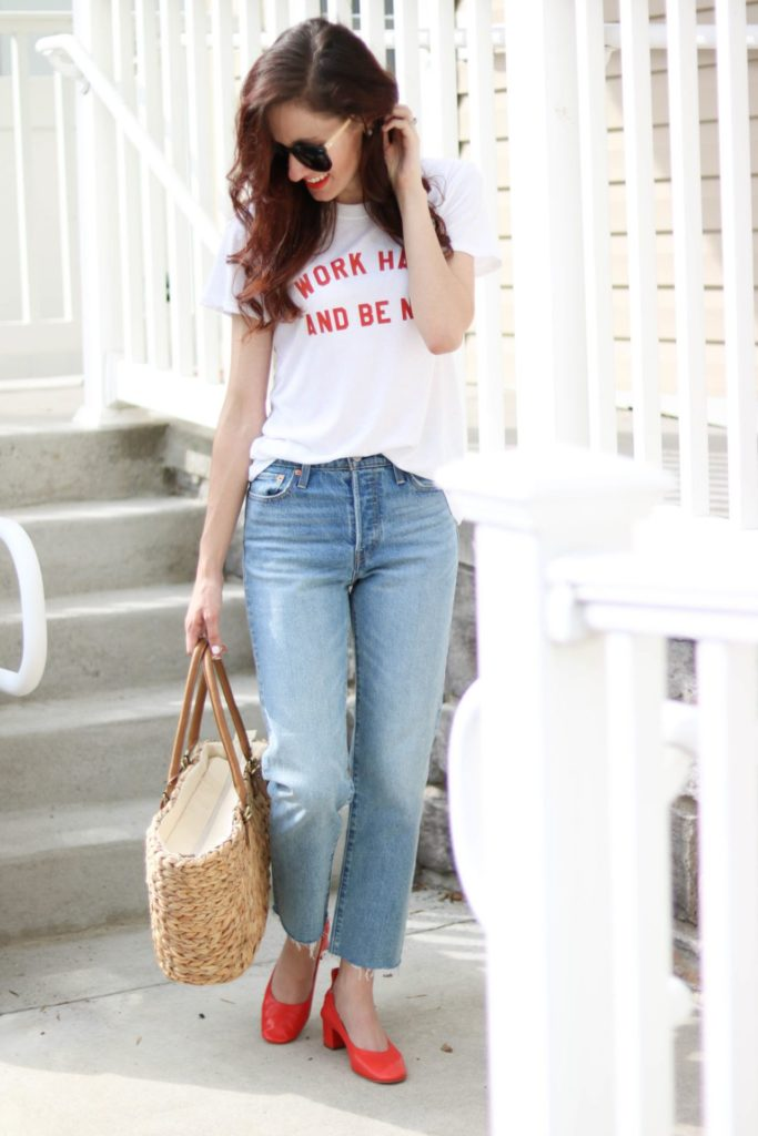 The best jeans don't have to break the bank. Philadelphia lifestyle blogger, Erica of Coming Up Roses, shares her personal favorite picks - the best jeans all under $100! SAVE THIS POST!