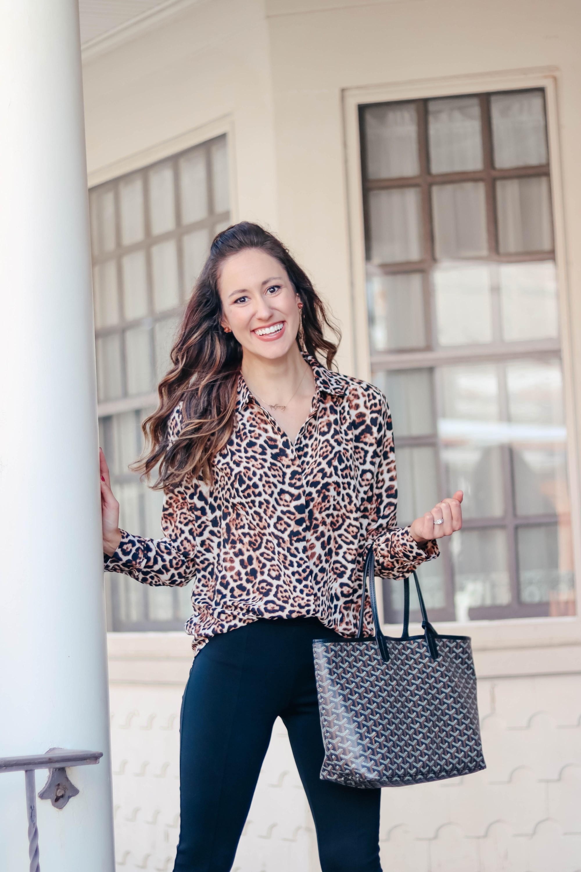 From Desk to Drinks: The perfect Leopard Blouse to go from Work to Weekend! - Workwear outfit on Coming Up Roses