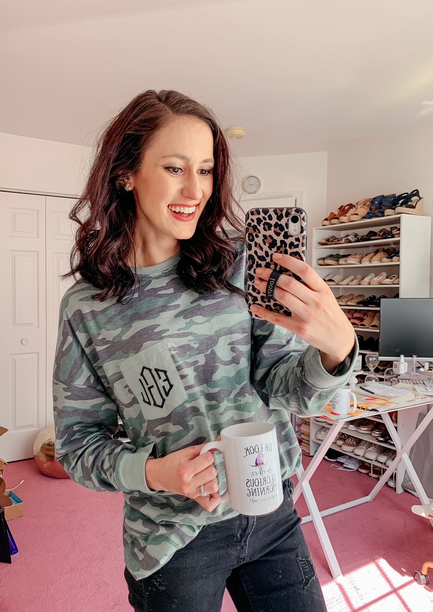 Marley Lilly monogrammed camo shirt - Cool Sh*t I Lovelovelove on Coming Up Roses