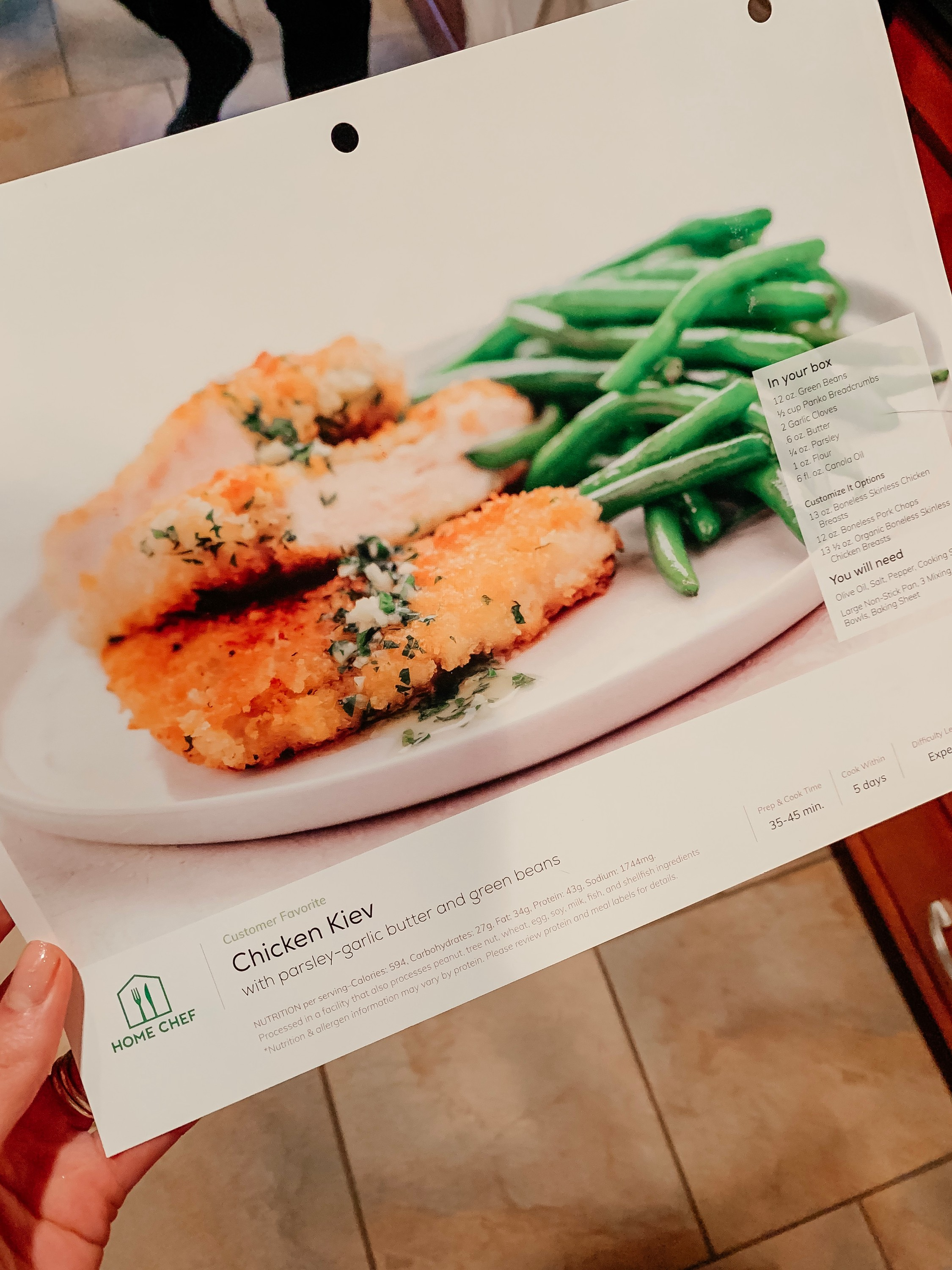 HOME CHEF - code ERICAL80 for $80 your first 4 boxes!