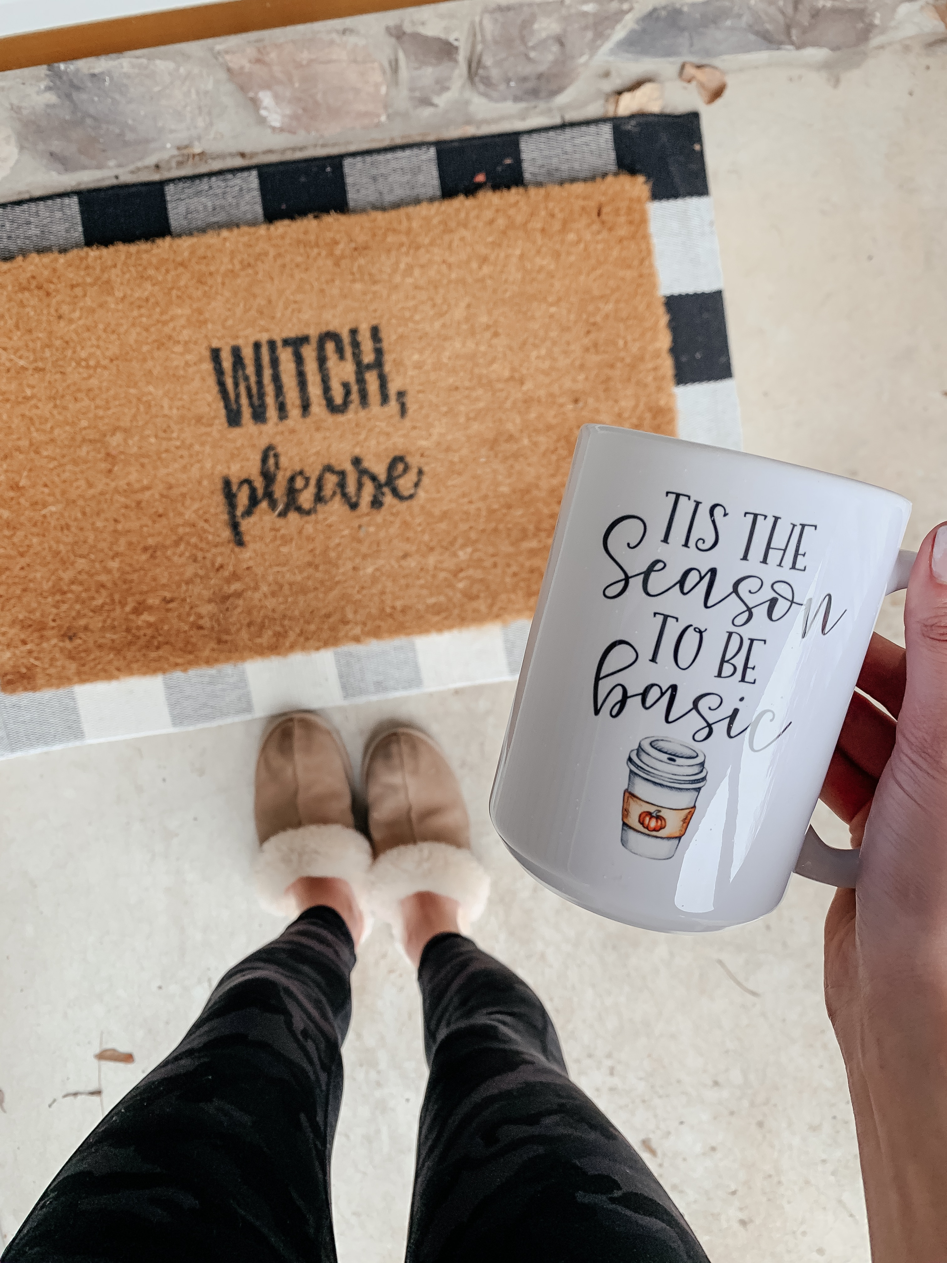 WITCH, PLEASE doormat - AMAZON FALL HAUL try-on on Coming Up Roses