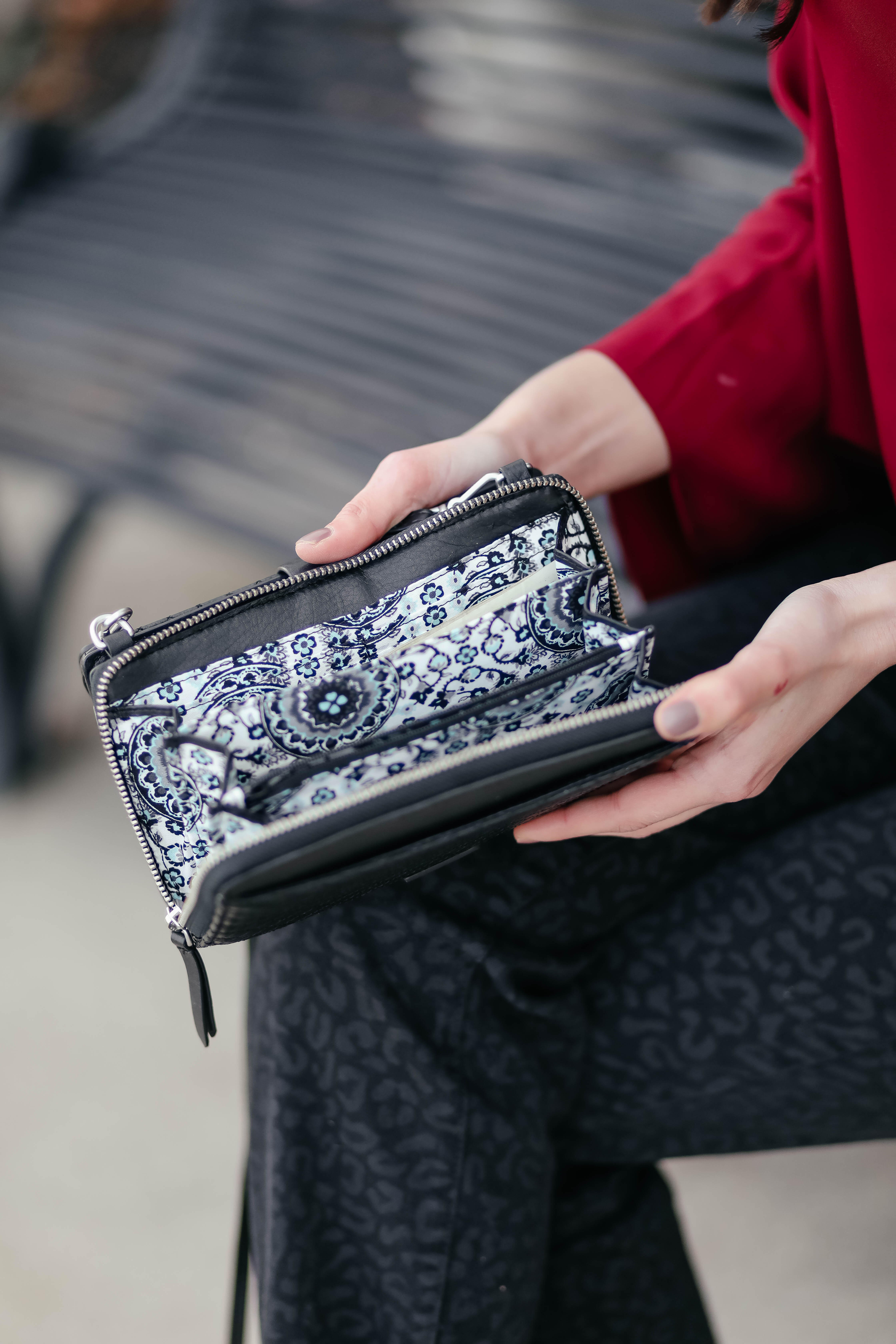 The perfect Little Black Bag - this functional crossbody is one of Vera Bradley's DASHING DEALS for the holiday season, on super sale TODAY ONLY! - on Coming Up Roses